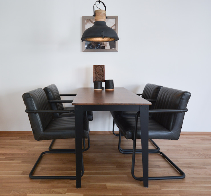 Industrial style dining room by Luna Homestaging Industrial