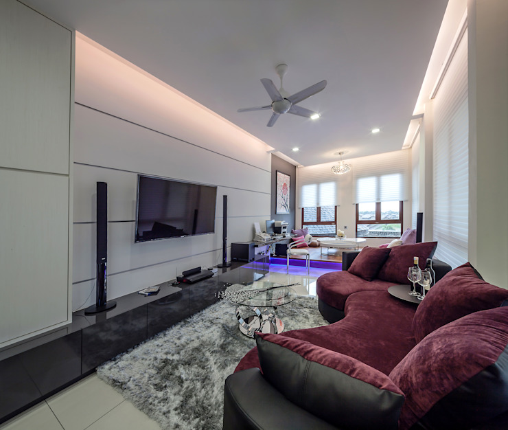 Majestic Contemporary | BUNGALOW Design Spirits minimalist style media rooms
