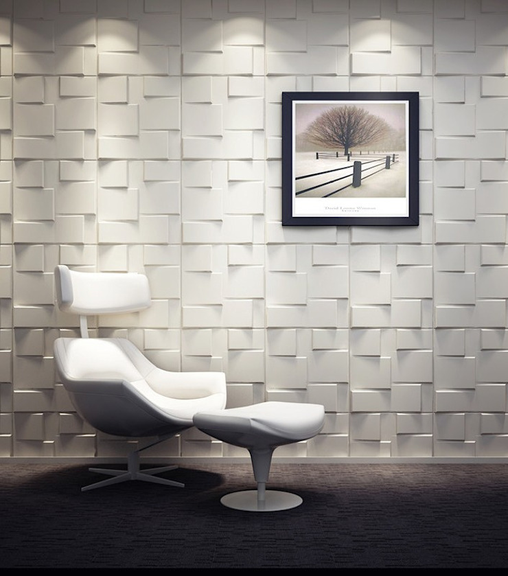 Rubik 3D Wall Panel by Twinx Interiors Modern