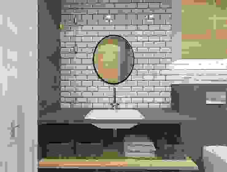 Industrial style bathroom by Kameleon - Kreatywne Studio Projektowania Wnętrz Industrial