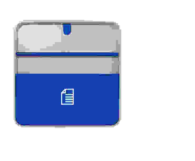 Porta Documentos Azul por Ditto Housewares Moderno Plástico