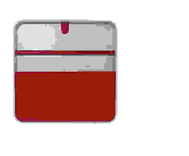Porta Documentos Vermelho por Ditto Housewares Moderno Plástico