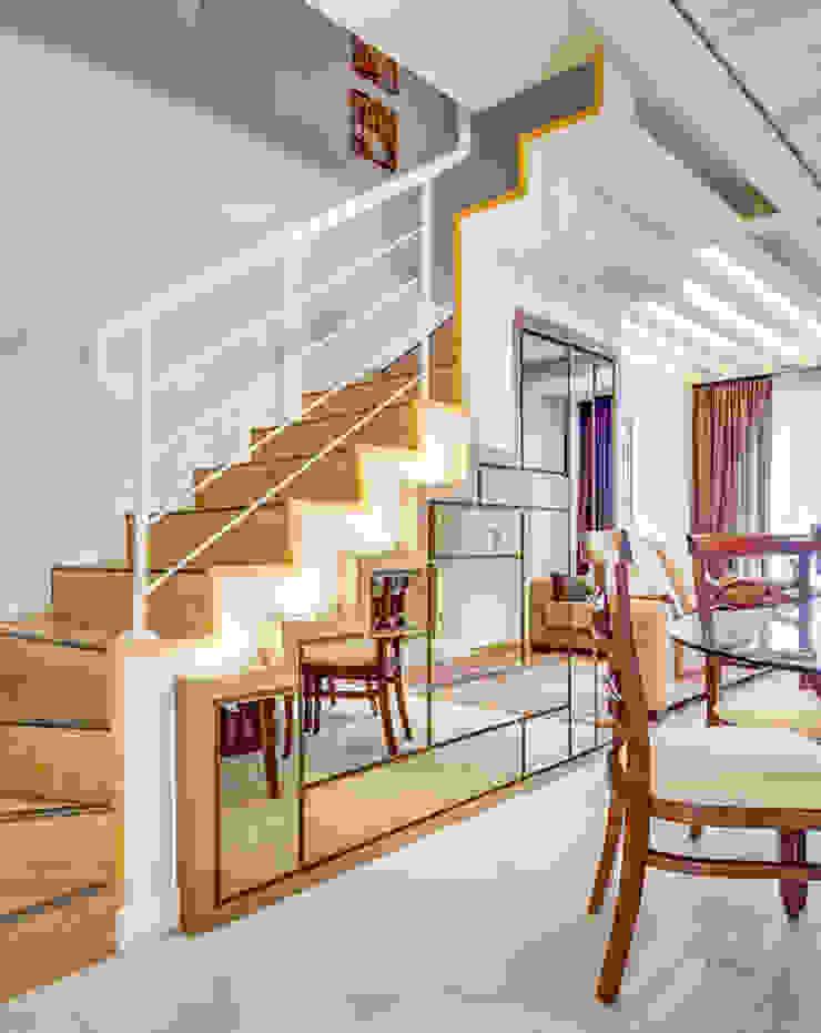 Juliana Lahóz Arquitetura Pasillos, vestíbulos y escaleras de estilo moderno