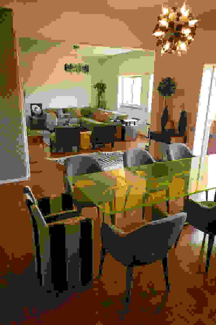 Apartamento Lisboa Salas de jantar ecléticas por Atelier Ana Leonor Rocha Eclético