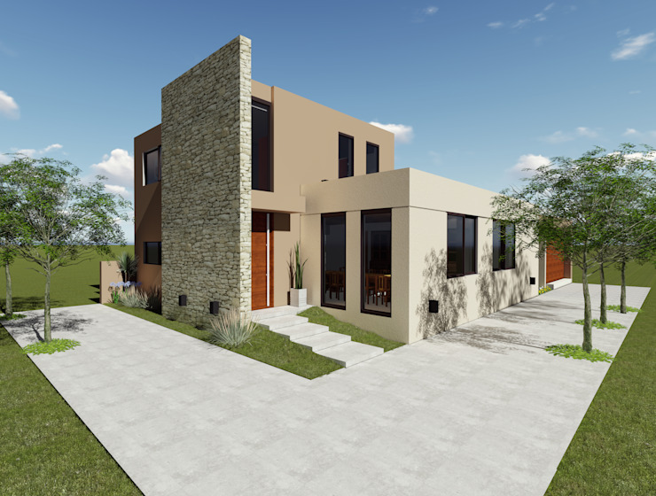 Modern Houses by Florencia Tascón - Arquitecta Modern Stone