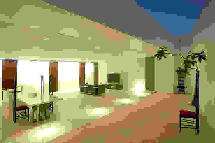 門一級建築士事務所 Jardines minimalistas Mármol Blanco
