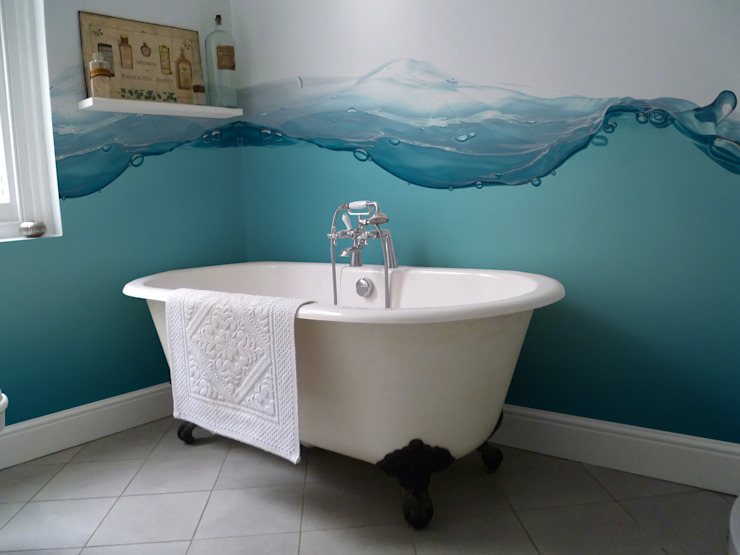 Splash Eclectic style bathroom by Pixers Eclectic