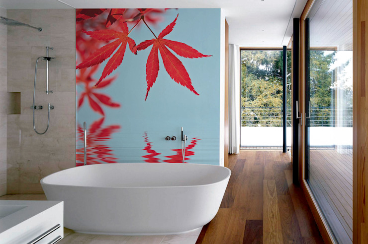 Leaves on Water Modern Bathroom by Pixers Modern