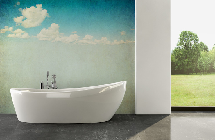 Cloudy Sky Modern Bathroom by Pixers Modern