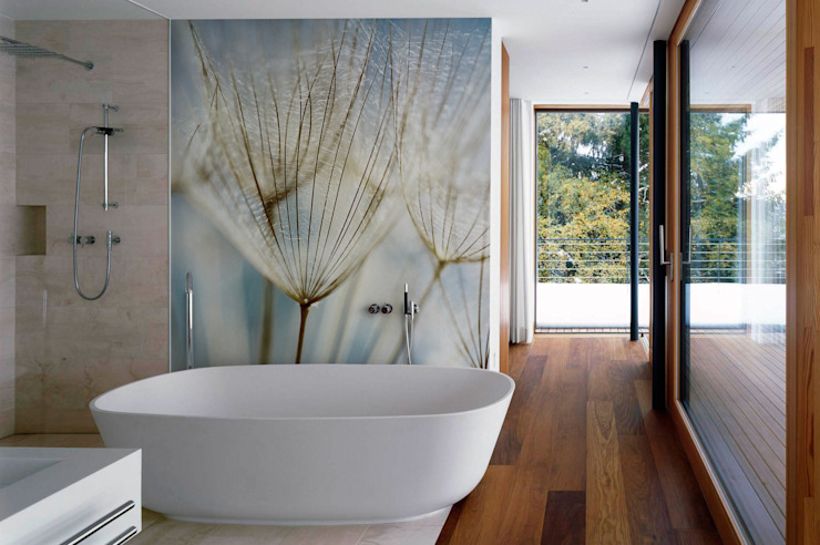 Dandelions Modern Bathroom by Pixers Modern