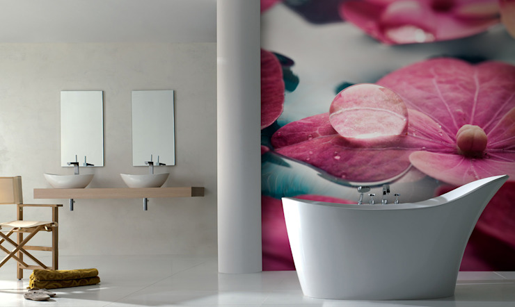 Bath in Flowers Modern Bathroom by Pixers Modern