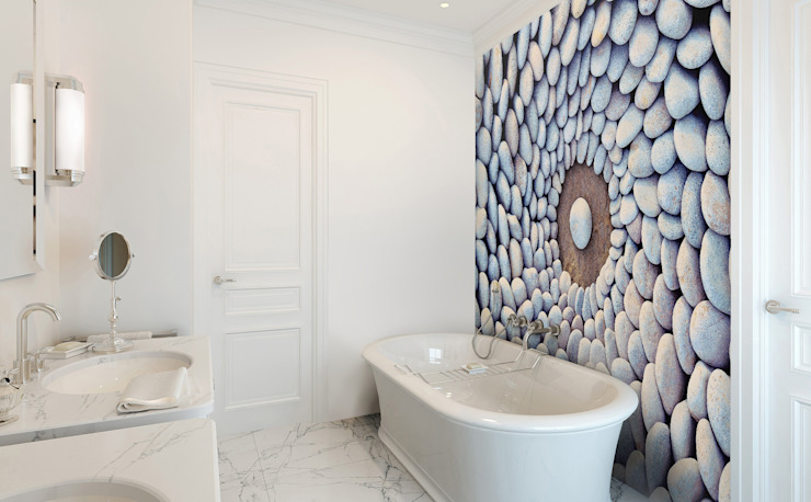 Stone Circles Modern Bathroom by Pixers Modern
