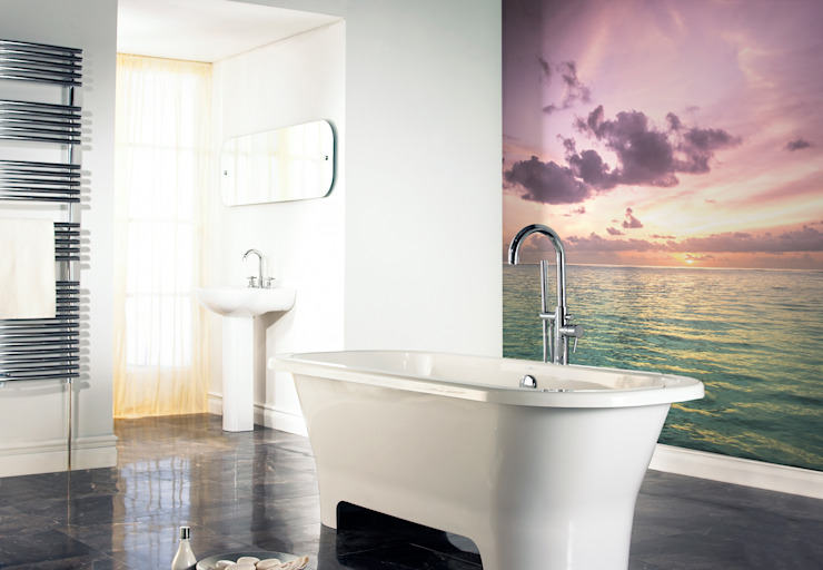 Purple Sunset Modern Bathroom by Pixers Modern