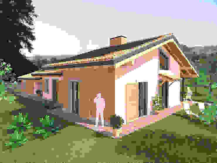 Villa in prefabbricato ligneo Case classiche di DBIOSTUDIO Classico