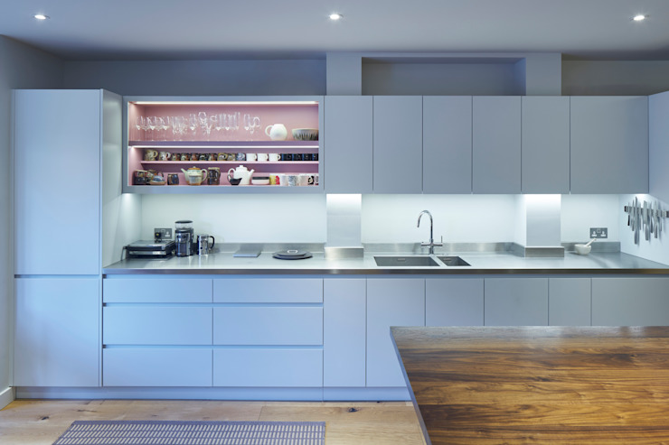 Belsize Park Finch London Ltd Modern kitchen Grey