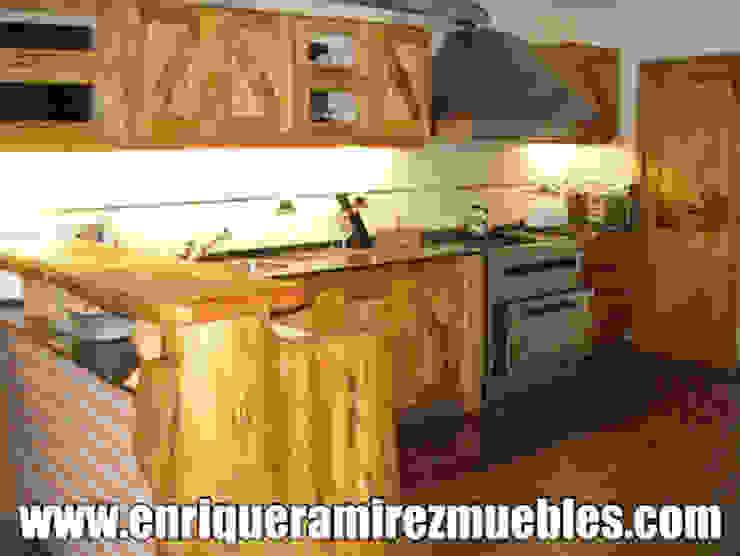 rustic  by Enrique Ramirez Muebles artesanales, Rustic Wood Wood effect