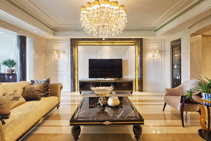 Luxury Living Space by Gracious Luxury Interiors Classic