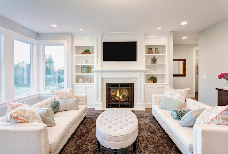 White With Pastel Accents Gracious Luxury Interiors Modern living room White