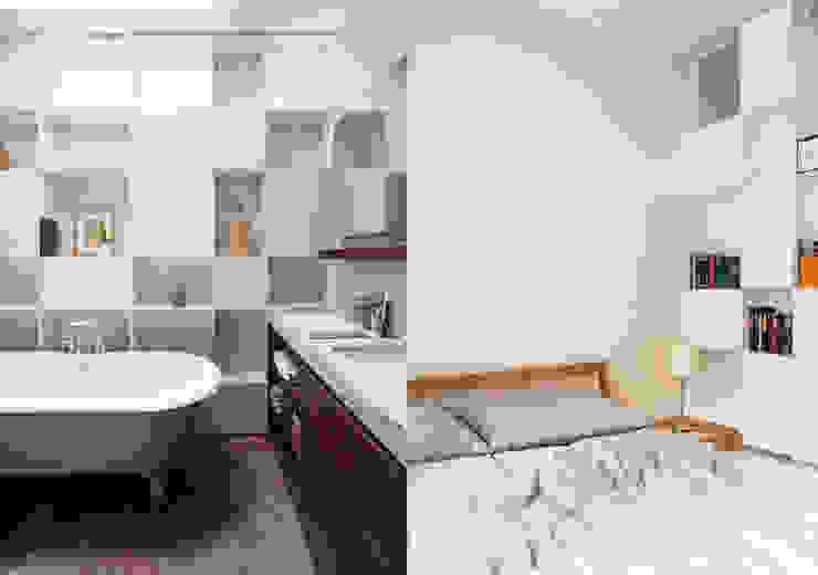 Fabio Azzolina Architetto Modern style bathrooms