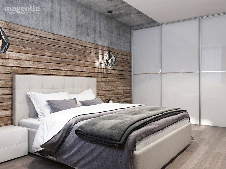 Industrial style bedroom by MAGENTLE Industrial Wood Wood effect