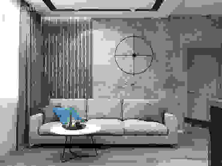 Minimalistyczny salon od MAGENTLE Minimalistyczny Beton
