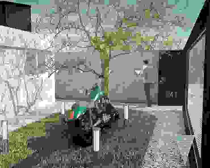 Modern style gardens by JUNE arquitectos Modern Concrete