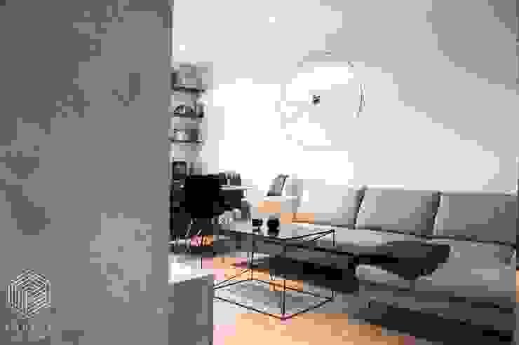 Zolnik Pracownia Soggiorno minimalista Cemento Grigio
