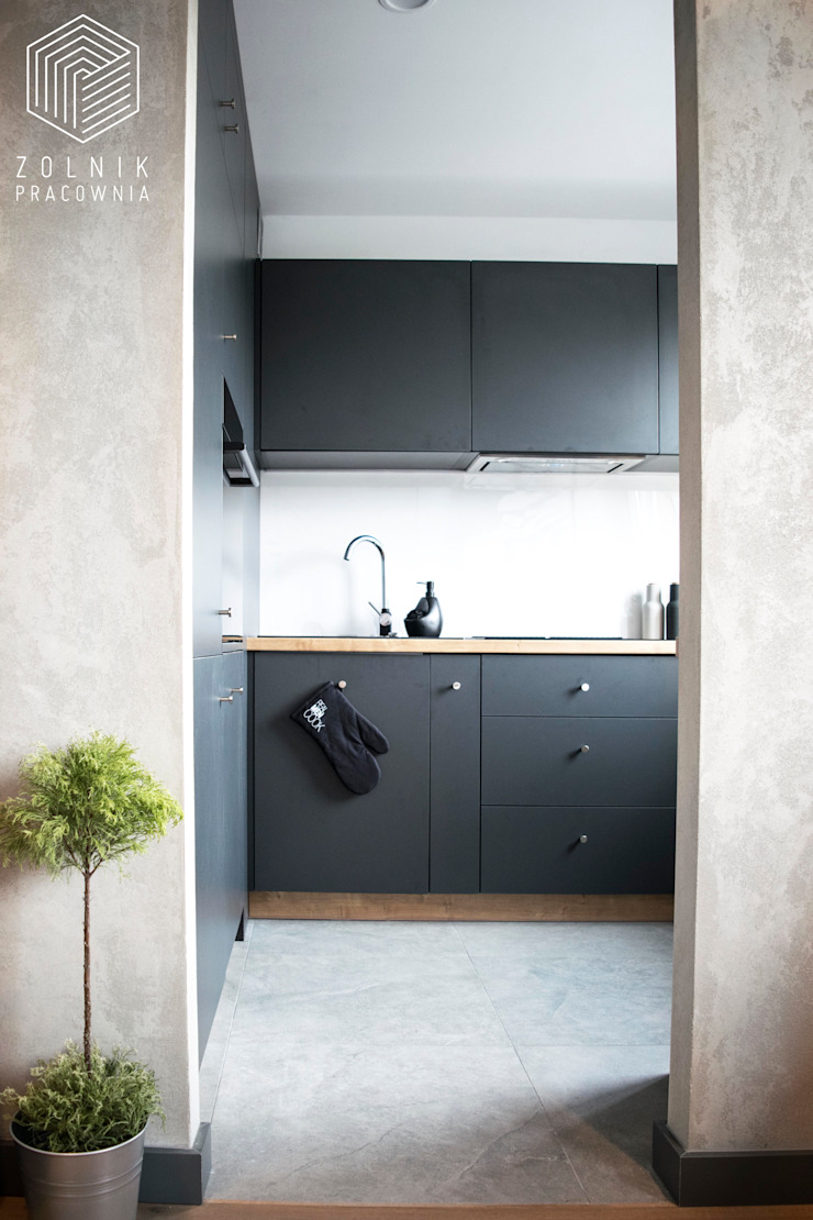 Zolnik Pracownia Cucina minimalista Cemento Grigio