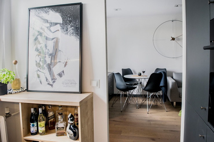 Zolnik Pracownia Soggiorno minimalista Grigio