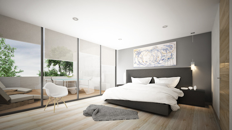 Providencia Dormitorios modernos de Sulkin Askenazi Moderno