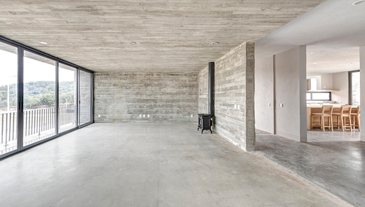 La Desarrolladora Living room Concrete Grey