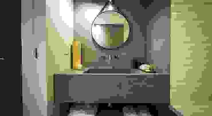 Parede e Bancada em Microcimento Hotéis modernos por 4Udecor Microcimento Moderno