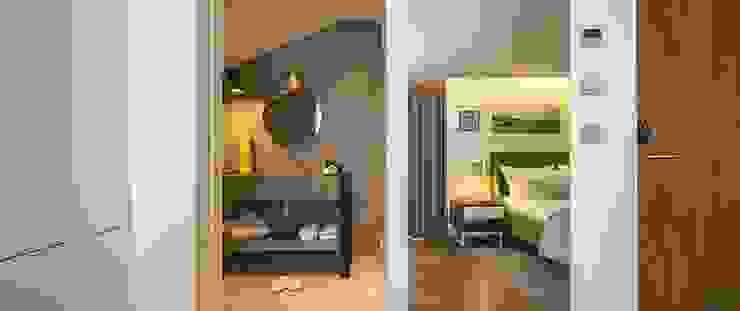 Casa de Banho / Parede de Quarto em Microcimento Hotéis modernos por 4Udecor Microcimento Moderno