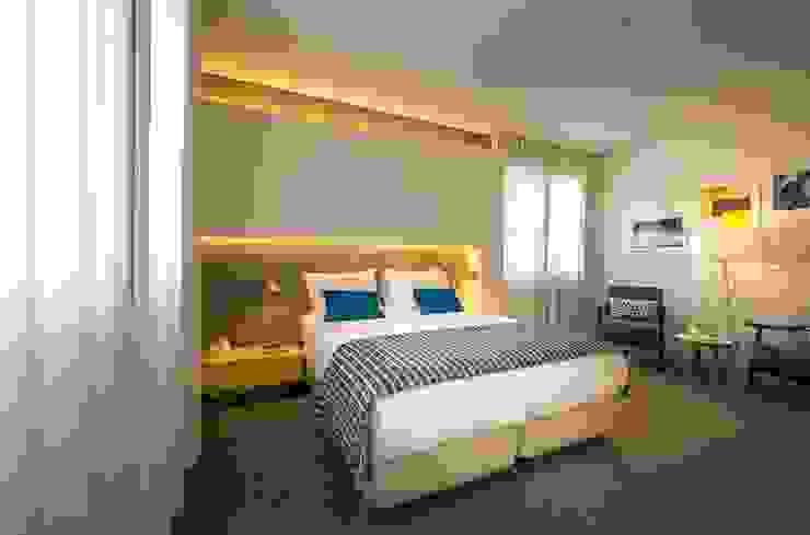 Parede de Quarto em Microcimento Hotéis modernos por 4Udecor Microcimento Moderno