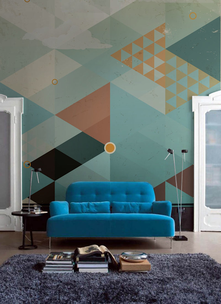 Geometric Sky Pixers Living room