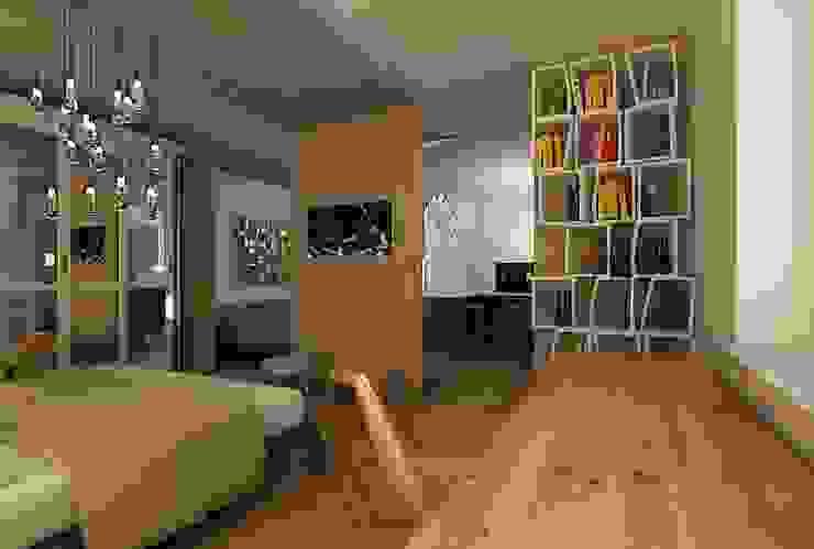 Dstudio.M Eclectic style bedroom Wood Beige