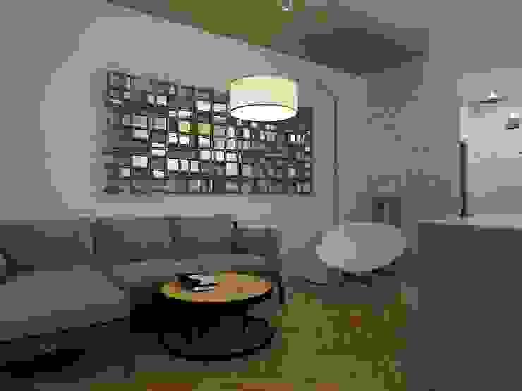 Dstudio.M Living room Wood Grey