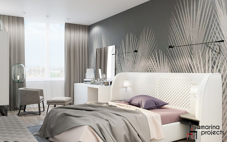 Chambre de style  par Samarina projects, Minimaliste
