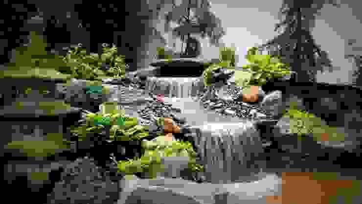 Country style garden by Bio Göl Havuz (Biyolojik Gölet ve Havuz Yapısalları) Country