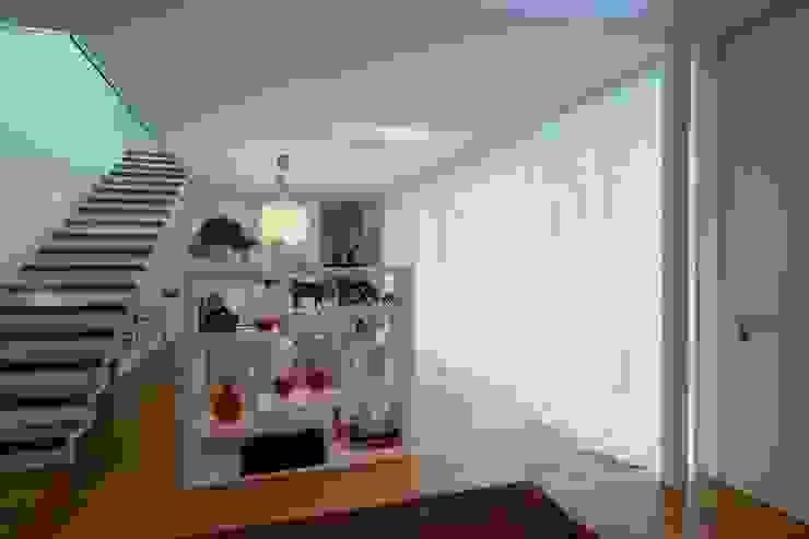 Modern corridor, hallway & stairs by ALDENA Modern