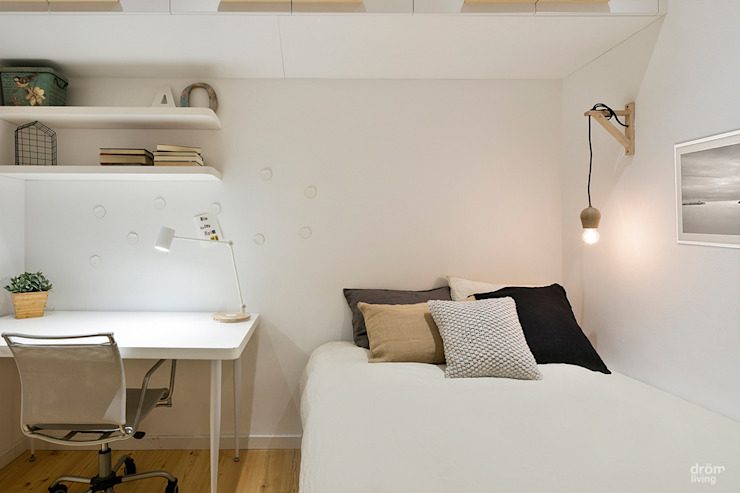Dormitorios de estilo escandinavo de Dröm Living Escandinavo