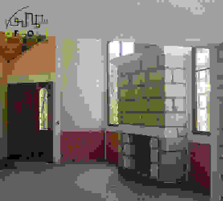 Cabaña de Descanso Salones rústicos rústicos de ARCO +I Rústico