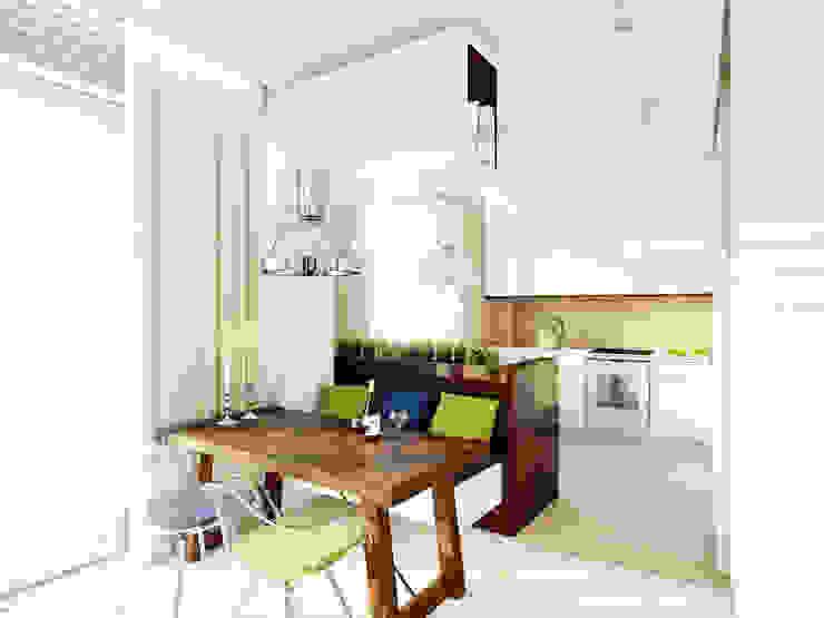 Apartament w stylu wakacyjnym na warszawskiej Saskiej Kępie - Tissu.: styl , w kategorii Kuchnia zaprojektowany przez TISSU Architecture,Nowoczesny