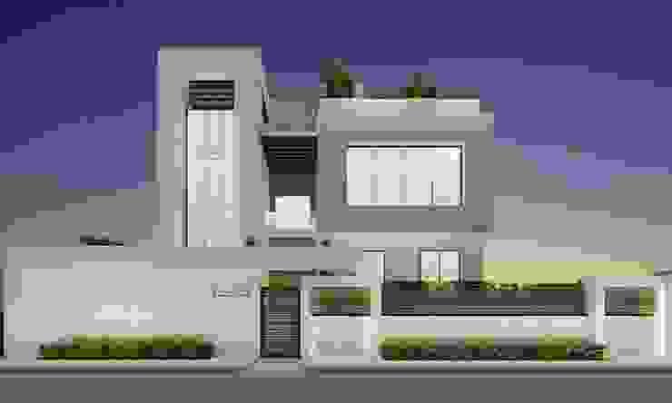 Elegant Modern Exterior Design Ideas by IONS DESIGN Мінімалістичний Вапняк