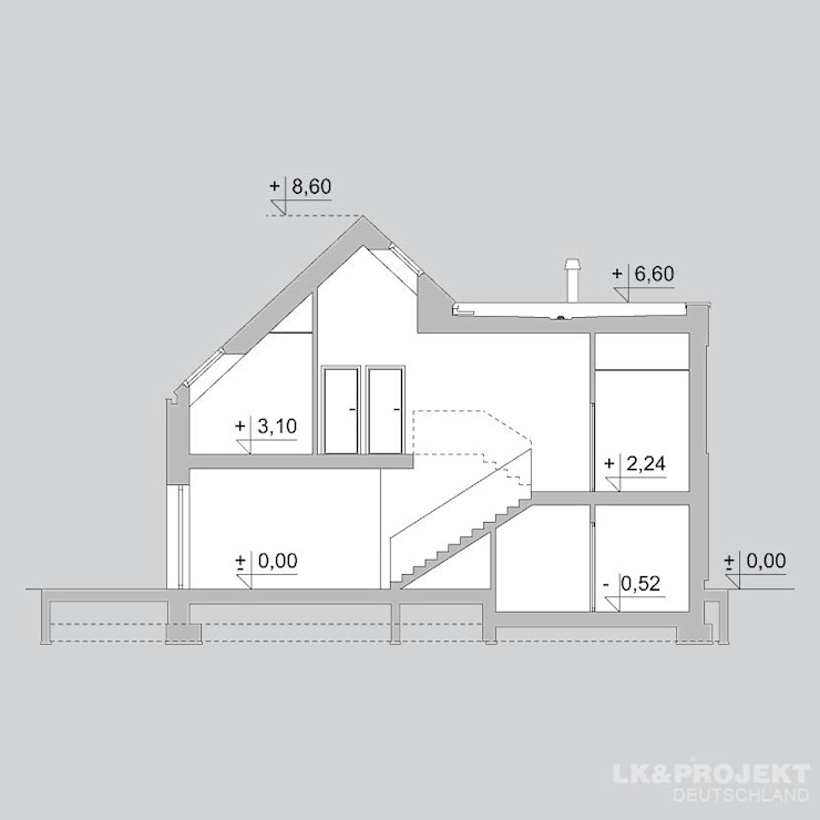 в современный. Автор – LK&Projekt GmbH, Модерн