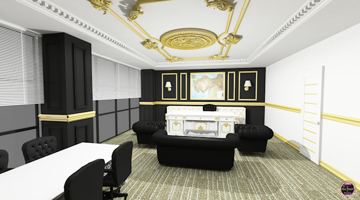 Classic Office Design Merve Demirel Interiors Klasik Ahşap Ahşap rengi