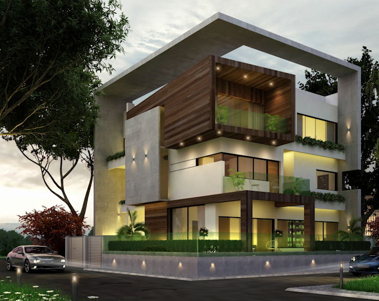 Residential Project Modern houses by agnihotri associates Modern