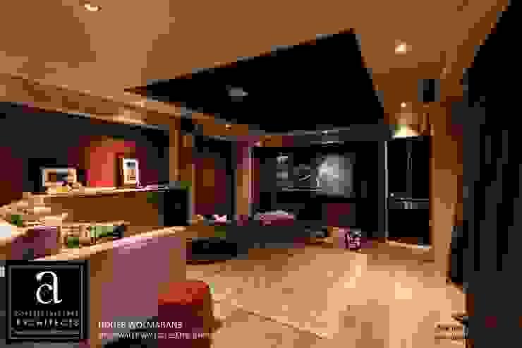 Coetzee Alberts Architects Salas multimedia de estilo moderno
