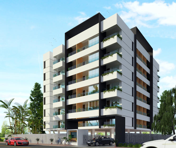 Apartment at Indore Modern houses by agnihotri associates Modern