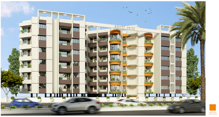 Apartment at MHOW (Proposed) Modern houses by agnihotri associates Modern